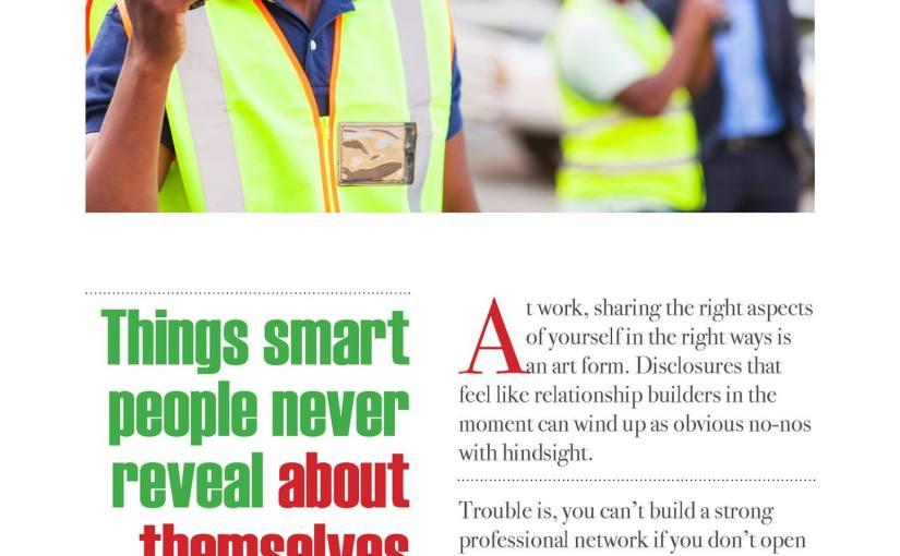 Things Smart People Never Reveal About Themselves AtWork